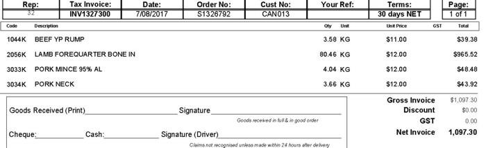 Free AP Invoice Example
