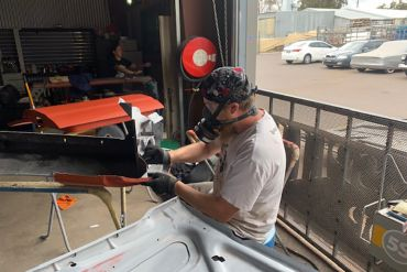 Automotive refinishing apprentices still busy and training after 2020 hailstorm