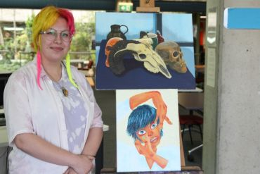 Library hosts students' artwork